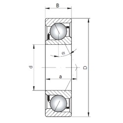 ISO 7034 B angular contact ball bearings