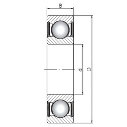 ISO 62/22-2RS deep groove ball bearings