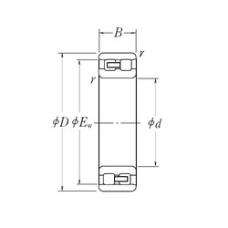 NSK NN 3056 cylindrical roller bearings