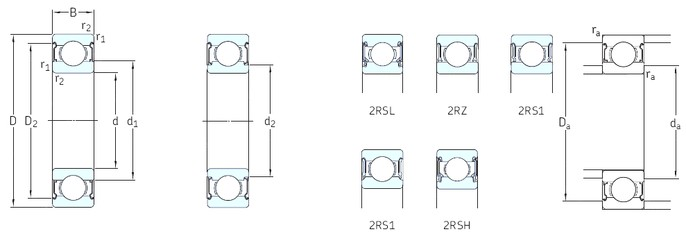 SKF W635-2Z deep groove ball bearings