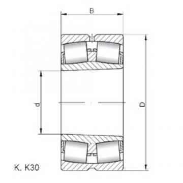 ISO 22352 KW33 spherical roller bearings