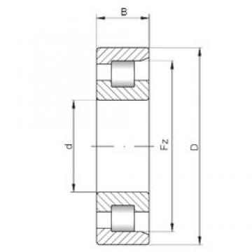 ISO NF3332 cylindrical roller bearings