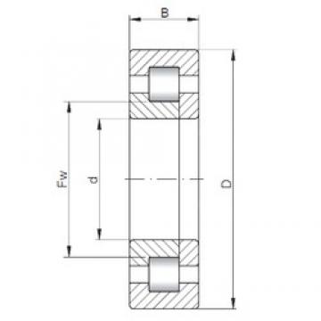 ISO NUP216 cylindrical roller bearings