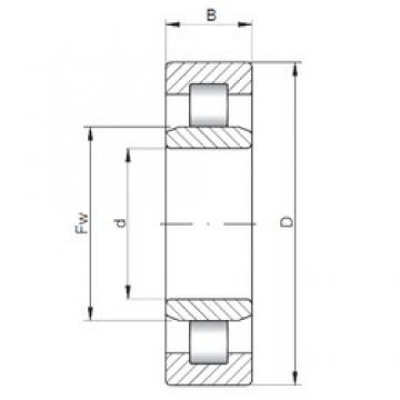 ISO NU2217 cylindrical roller bearings