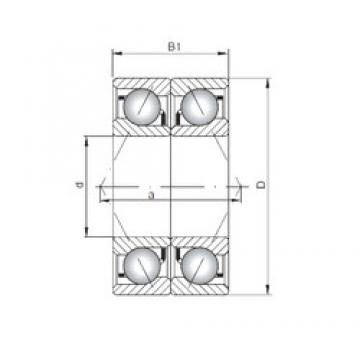 ISO 7334 CDB angular contact ball bearings