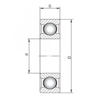 ISO 60/560 deep groove ball bearings