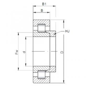ISO NH321 cylindrical roller bearings