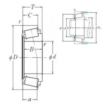 NSK EE971354/972100 cylindrical roller bearings