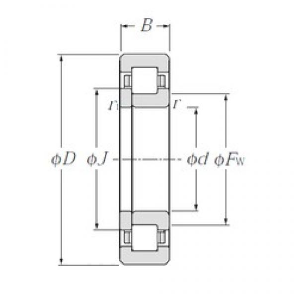 NTN NUP2311 cylindrical roller bearings #1 image